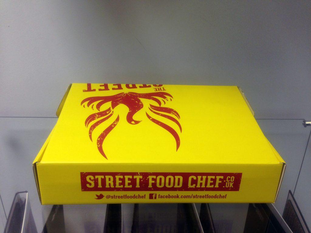 street food chef packaging rear