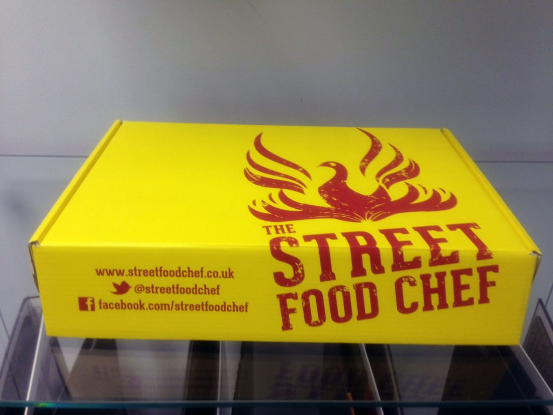 street food chef packaging front